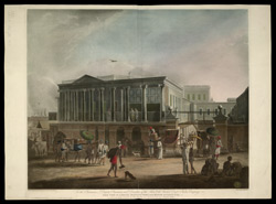 View of a House, Manufactory, and Bazaar, in Calcutta